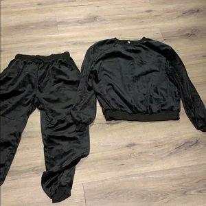 Black sweater set